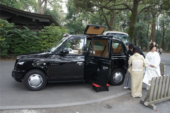 London Taxi wedding car 1