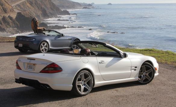 Aston Martin V8 Vantage Roadster vs. Mercedes-Benz SL63 AMG